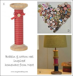 Bobbin candlestick and heart wall art