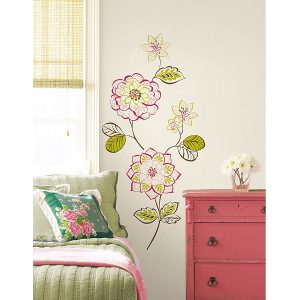 Des Fleurs floral wall and window stickers