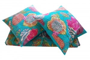 Kantha stitch cushion covers from Majestic India