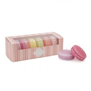 Macaroon design candle set