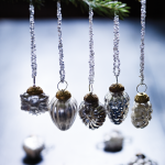 Handmade silver beaded baubles from Cox and Cox