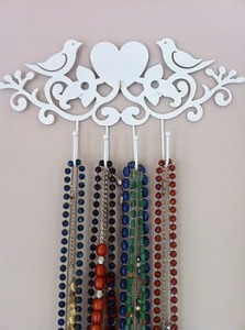 Jewellery hooks storage idea