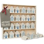 Christmas advent calendar village