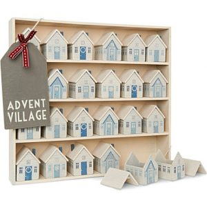 Unusual wood wooden advent calendar Christmas decoration