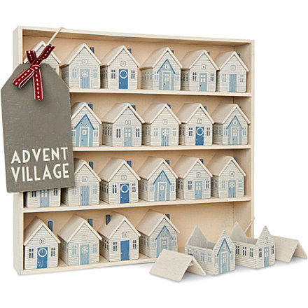 unusual wood wooden advent calendar christmas decoration - Wooden Christmas Advent Calendar