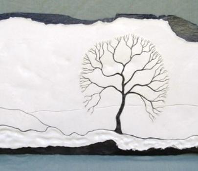 Handmade slate picture art