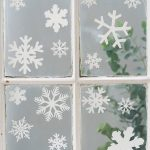 Snowflake seasonal vinyl window decor stickers