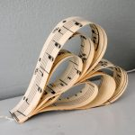 Vintage music heart garland Christmas decoration