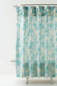 Designer home bathroom shower curtain