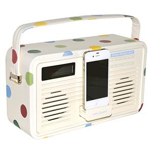 Radio with iphone dock
