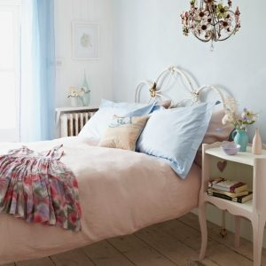 Create a stylish shabby chic bedroom