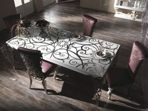 Italian Bastex Titania Collection dining table