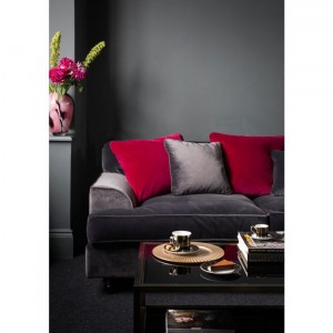 Velvet sofa for a cosy home