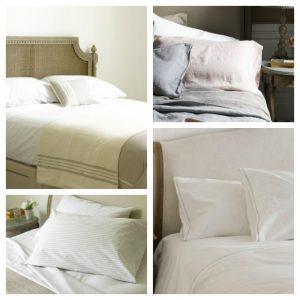 Linen cotton ticking bed linen bundle special offer