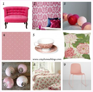 Decorating your home in shades of pink