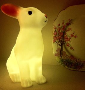 Make a child's room cosy with a rabbit night light