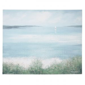 Calming wall art for a cosy home: Sand and Sea canvas