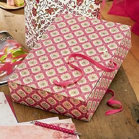 Srinagar Indian handmade paper box files