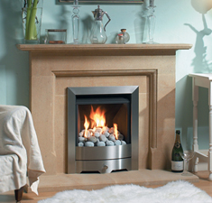 Warm and cosy fireplace
