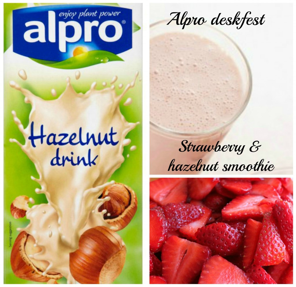 Strawberry and hazelnut breakfast smoothie