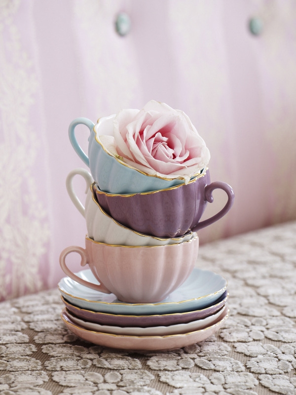 Vintage style Belle teacup and saucer set