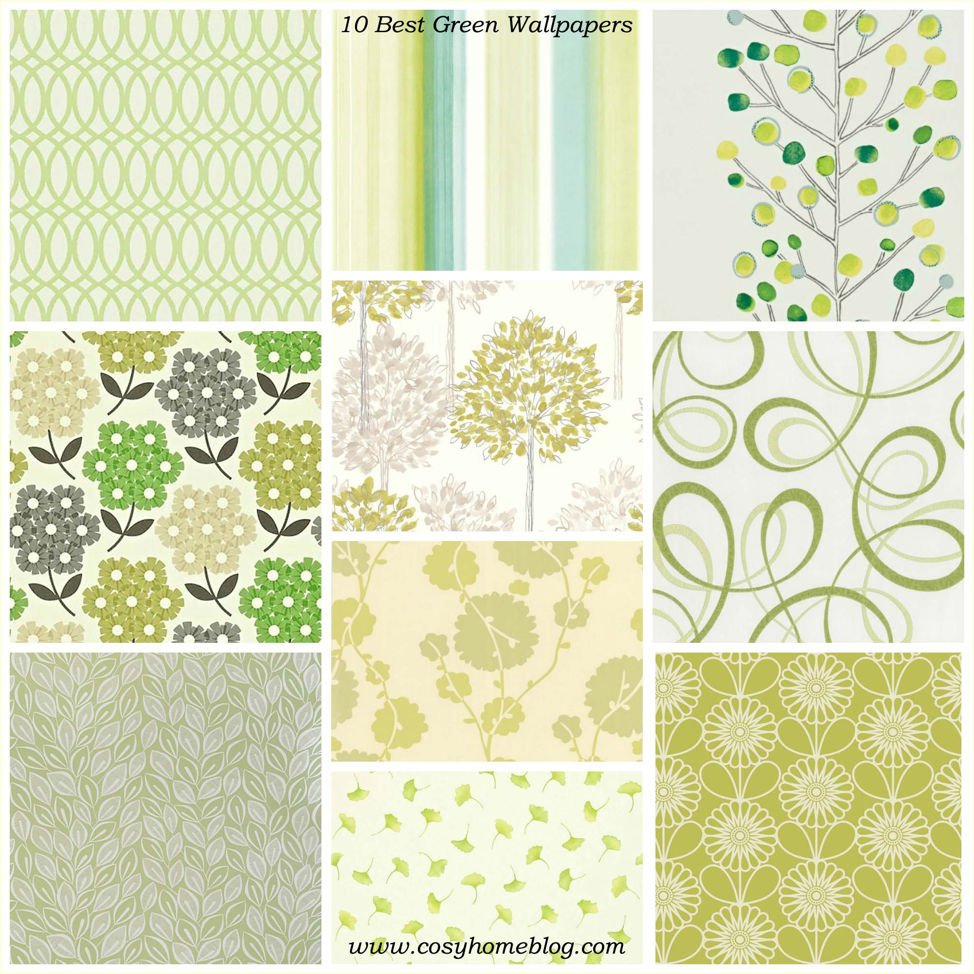 Spring greens: 10 green wallpaper decorating ideas | | Cosy Home Blog