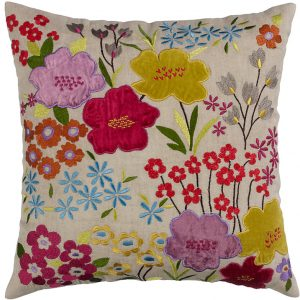 Spring flower design cushion