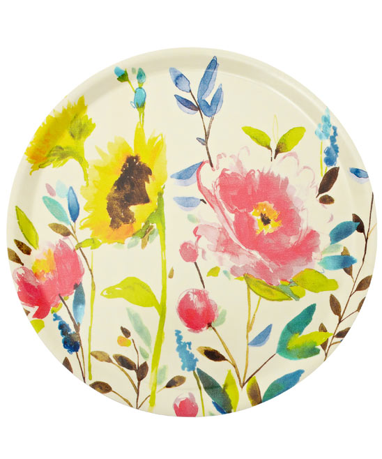 Floral watercolour home accessories trend