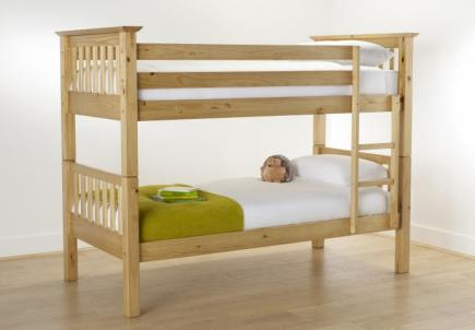 Practical wooden space saving bunk bed