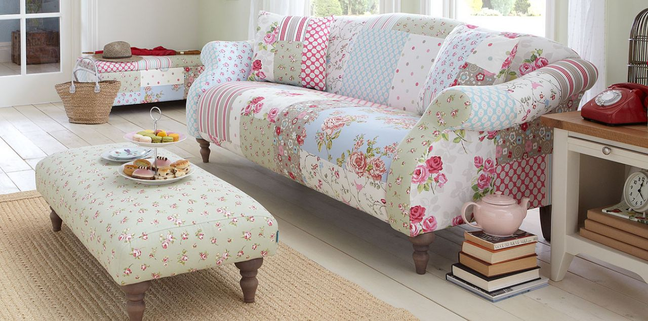 vintage style patchwork sofa from dfs cosy home blog. Black Bedroom Furniture Sets. Home Design Ideas