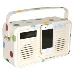 Techno shabby chic: Polka dot iPhone 5 radio