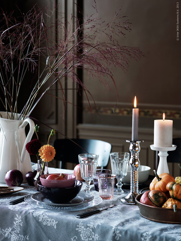 Home decor inspired by autumn colours