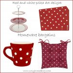 Go dotty: Cheery red and white polka dot homeware bargains
