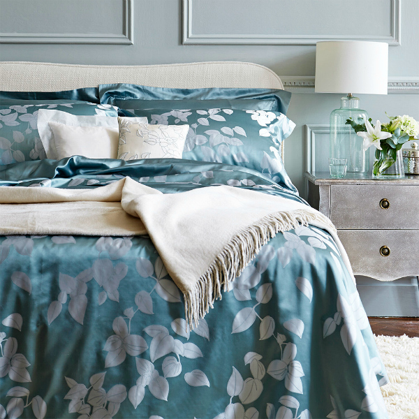 Luxury silk bedding from Gingerlily
