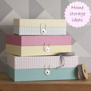 Pretty patterned storage boxes from The Contemporary Home
