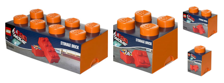 Limited edition LEGO Movie storage brick boxes | | Cosy Home Blog