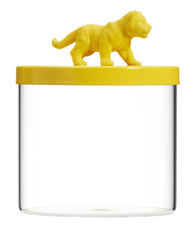 Yellow kitchen animal storage pot