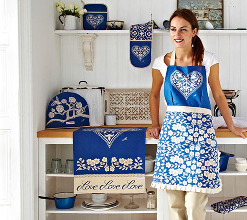 China blue kitchen accessories