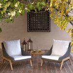 Laidback retro garden furniture coffee set