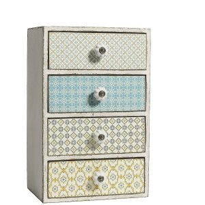 Floral style chest of drawers for a shabby chic cosy home