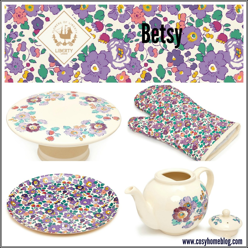 Liberty floral prints for a cosy home