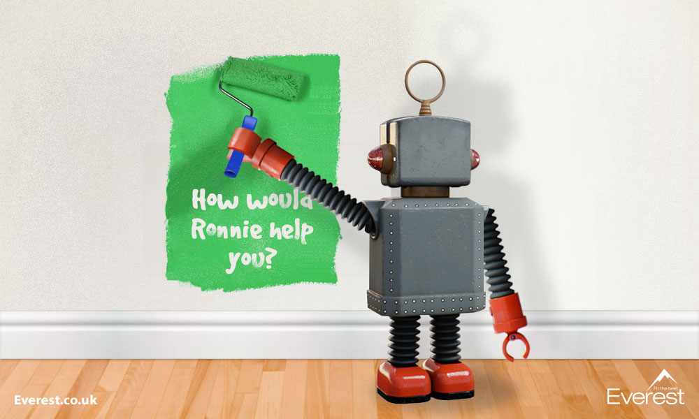 Ronnie the robot from Everest Home Improvements
