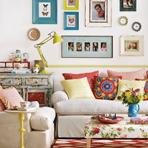 Boho chic living room style for a cosy home