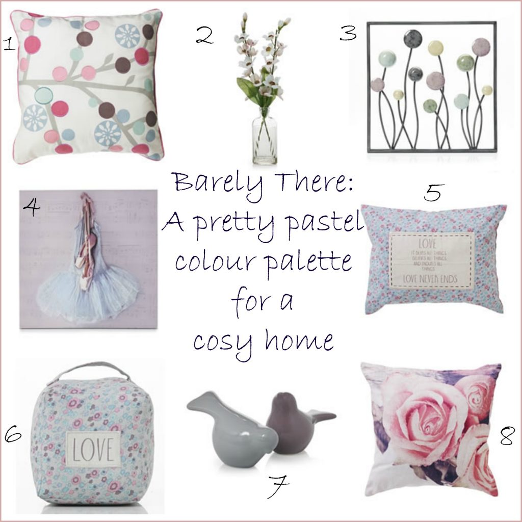 Barely there pastel home style idea from Cosy Home