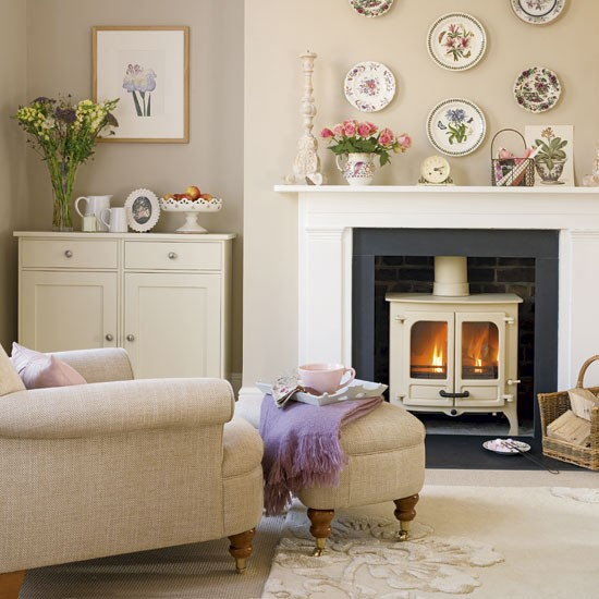 Cosy country cottage living room