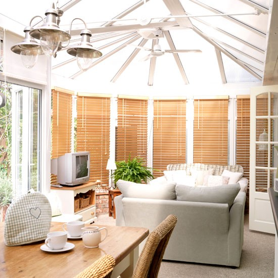 How to use a conservatory as a family room