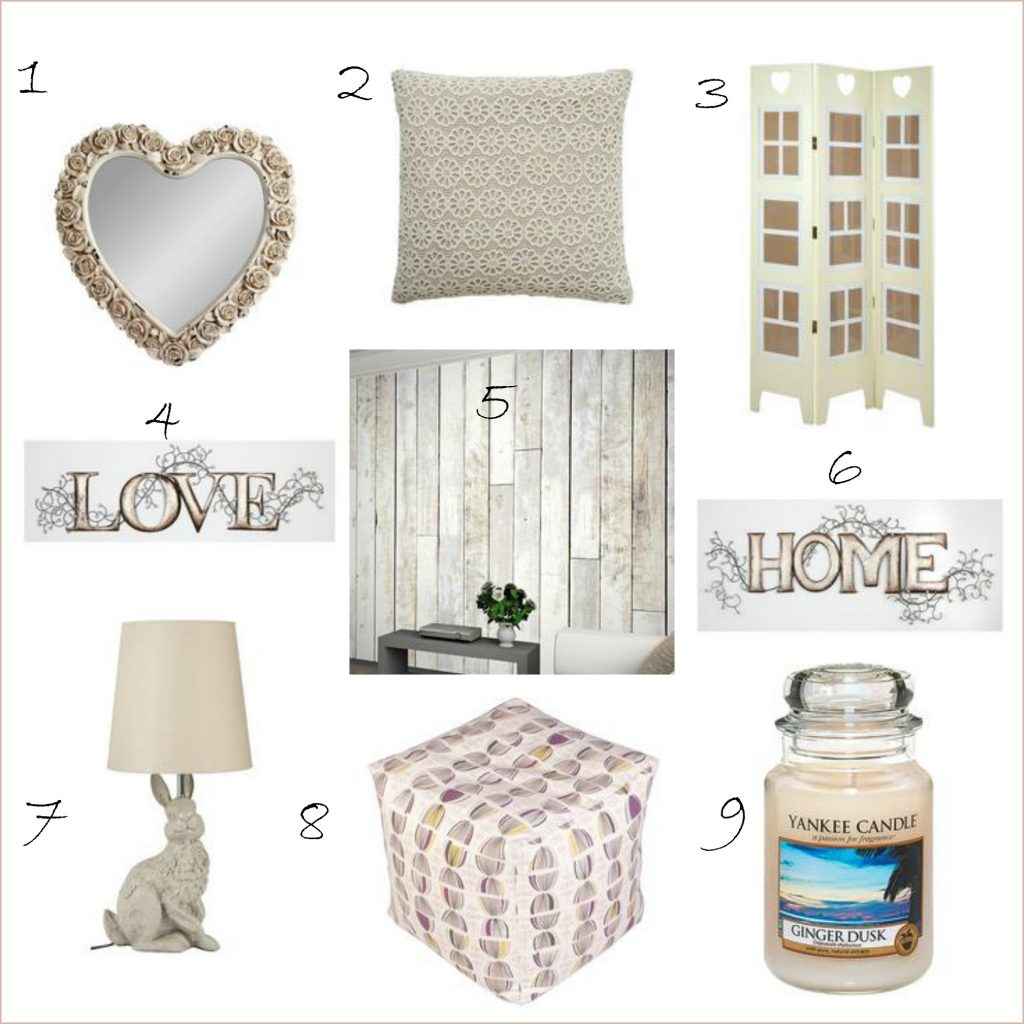 Very shabby chic home accessories