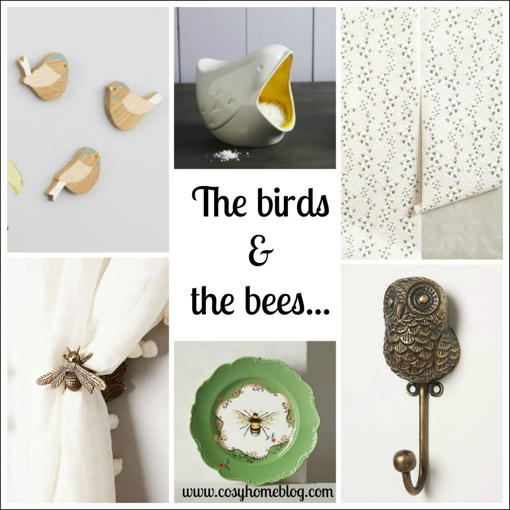 Bird and bee themed designs for a cosy home