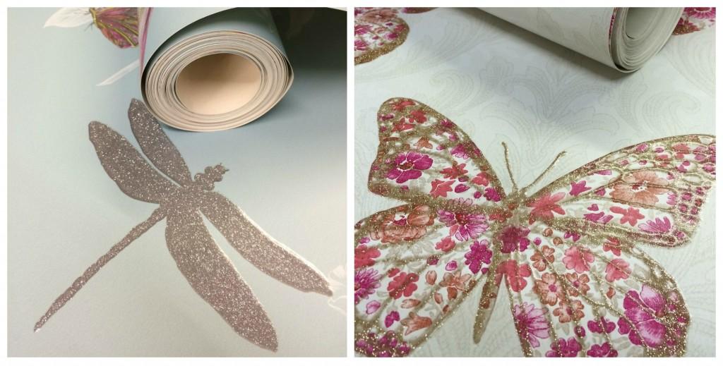 Glitter flitter metallic finish wallpaper