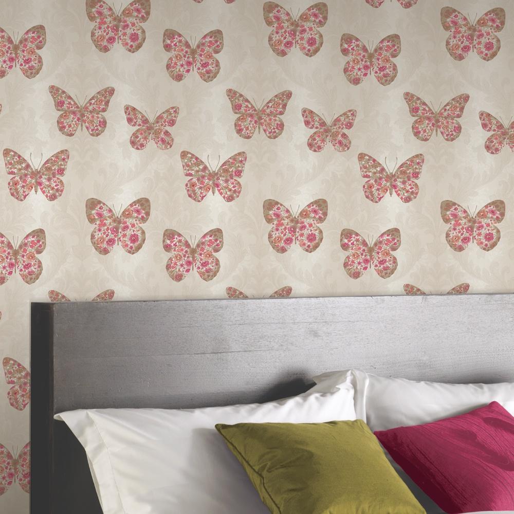 Enchanted butterfly wallpaper
